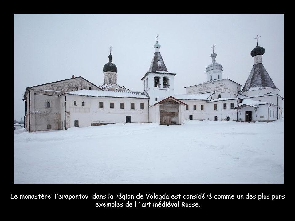 Le monastère Ferapontov dans la région de Vologda est considéré comme un des plus purs exemples de l ' art médiéval Russe.
