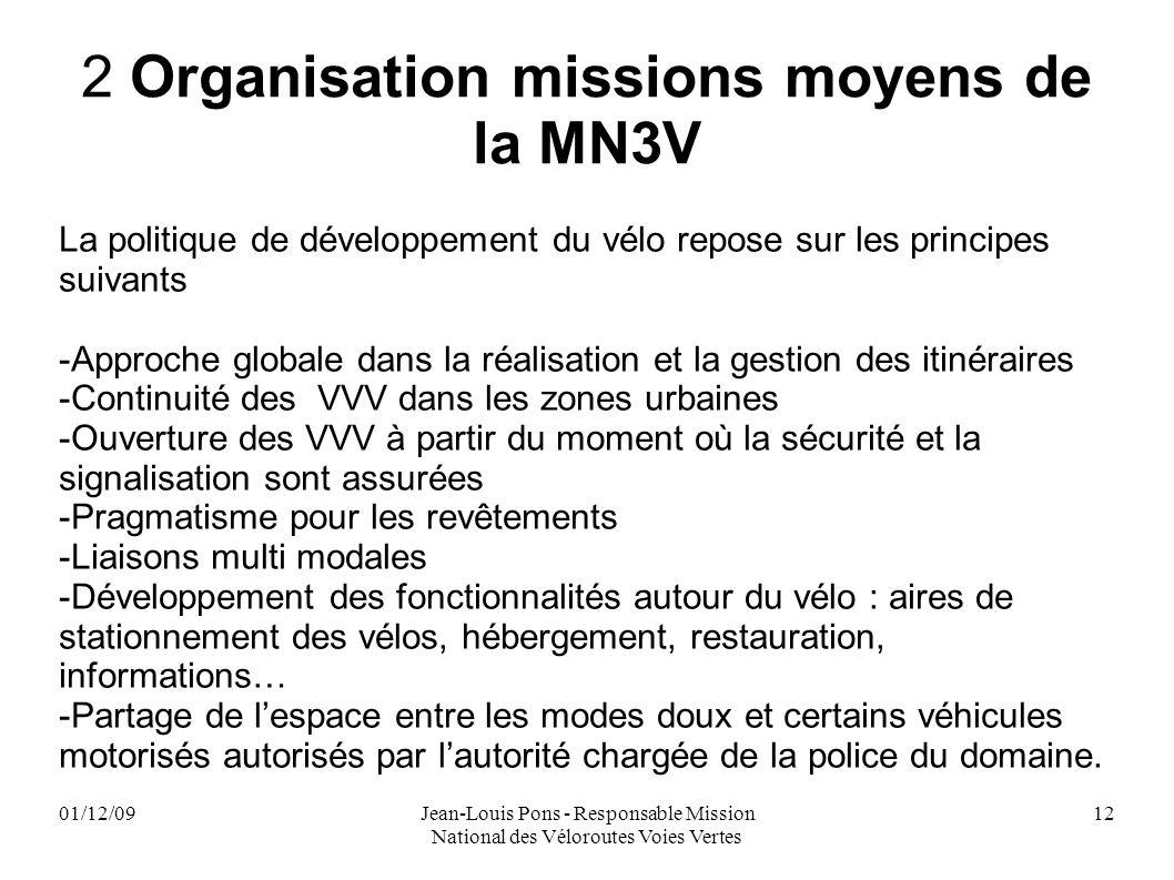 2 Organisation missions moyens de la MN3V