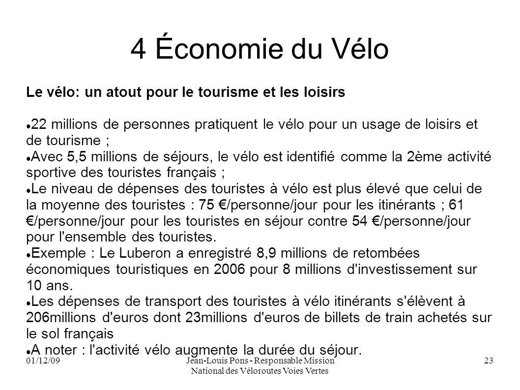 4 Économie du Vélo Le vélo: un atout pour le tourisme et les loisirs