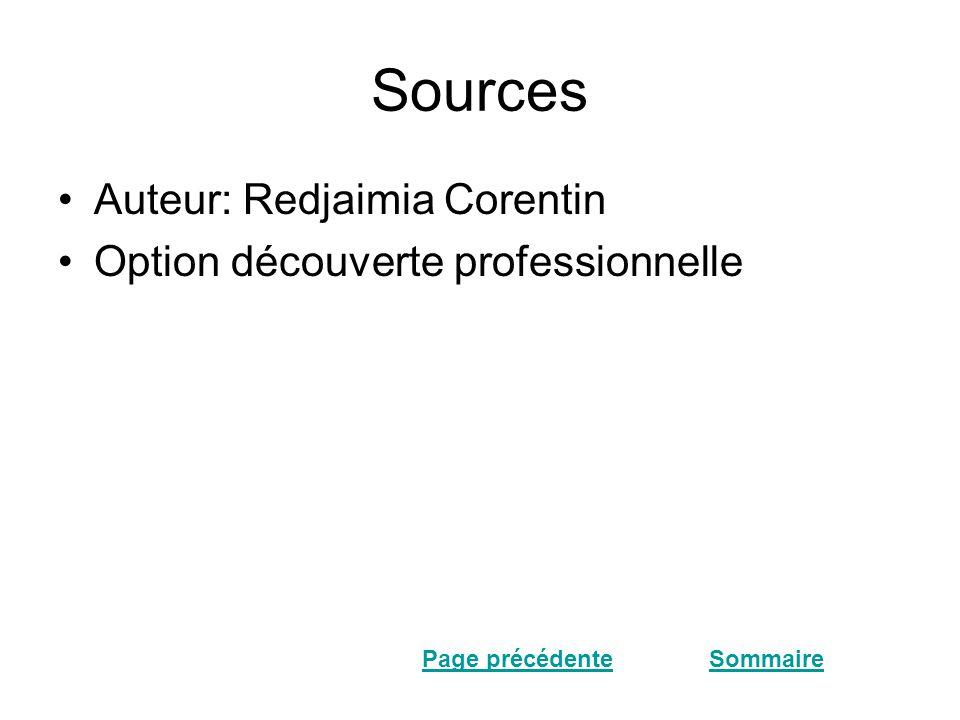 Sources Auteur: Redjaimia Corentin Option découverte professionnelle