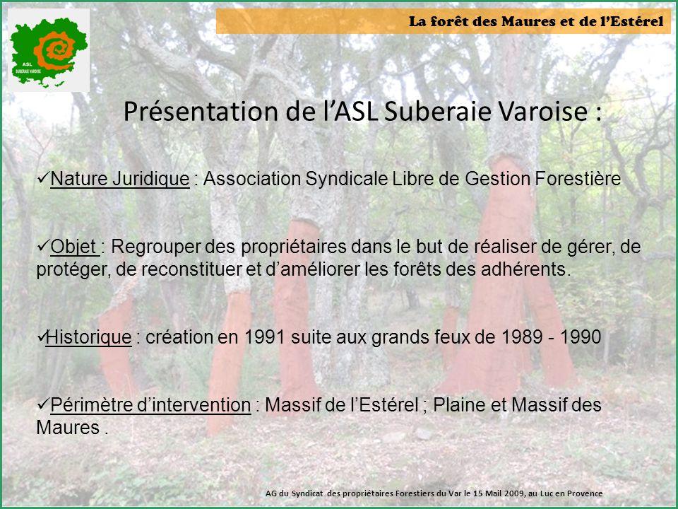 Présentation de l'ASL Suberaie Varoise :
