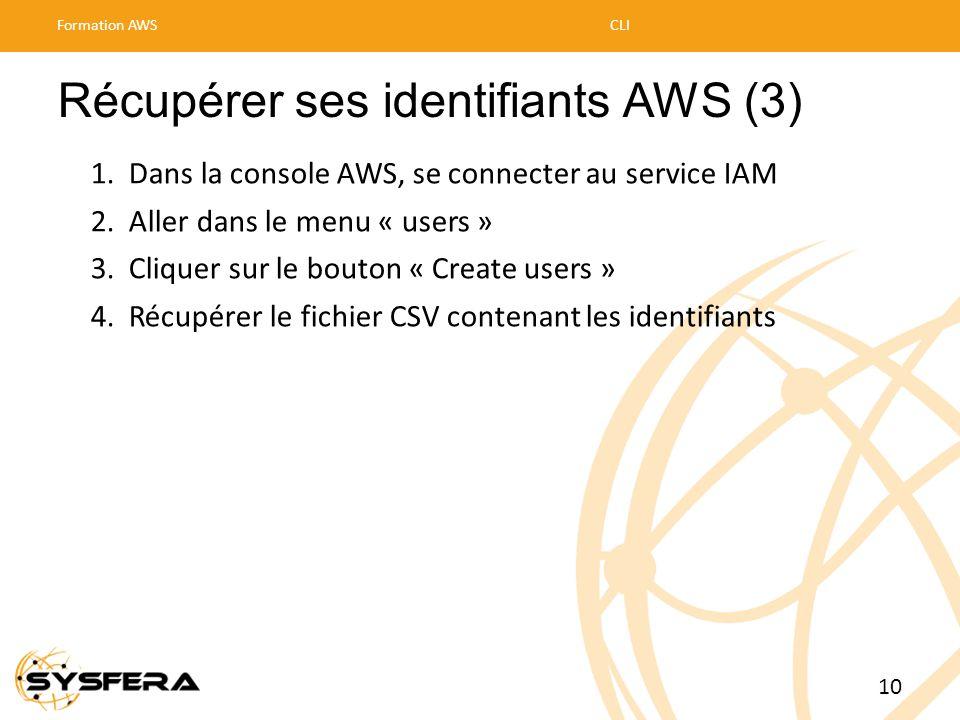 Récupérer ses identifiants AWS (3)