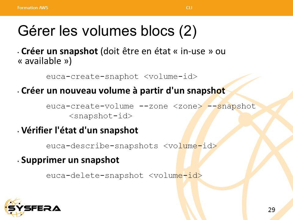 Gérer les volumes blocs (2)