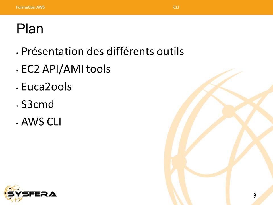 Plan Présentation des différents outils EC2 API/AMI tools Euca2ools