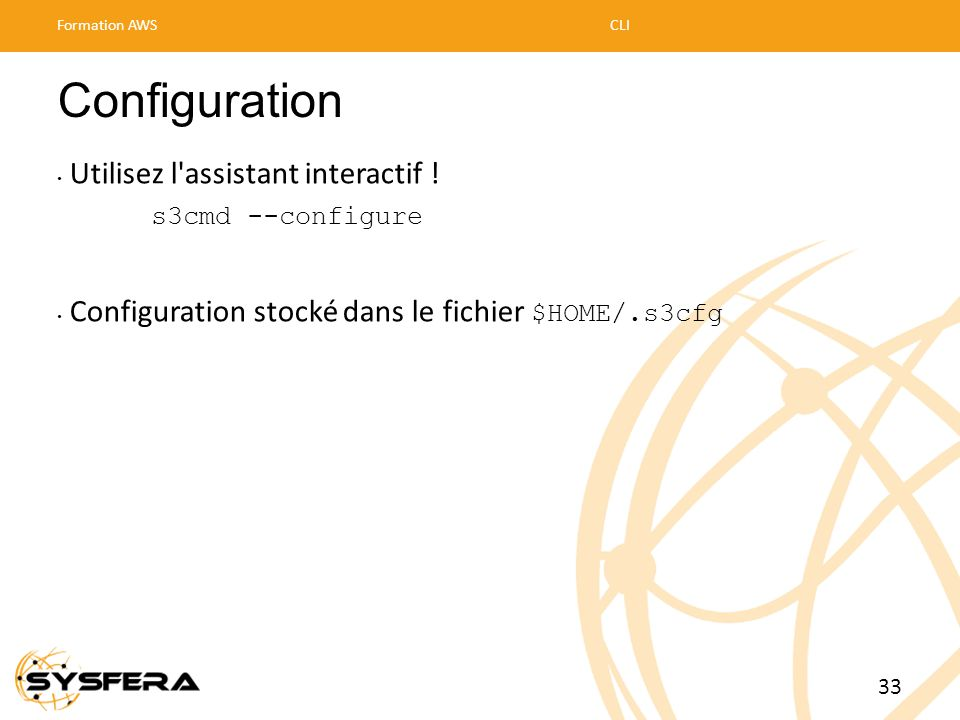 Configuration Utilisez l assistant interactif !