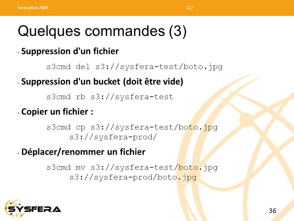 Quelques commandes (3) Suppression d un fichier