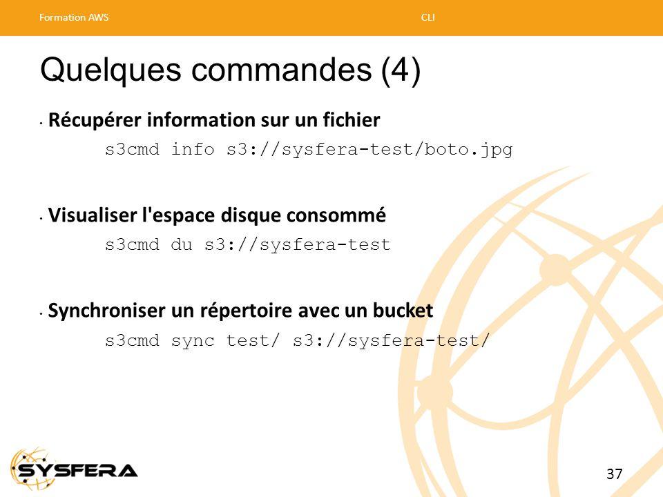 Quelques commandes (4) Récupérer information sur un fichier