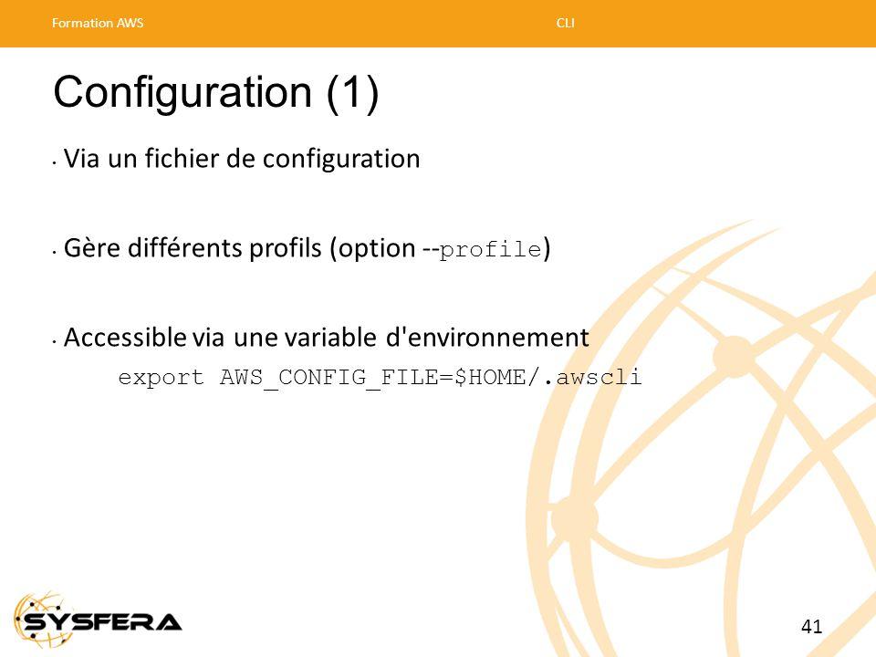 Configuration (1) Via un fichier de configuration