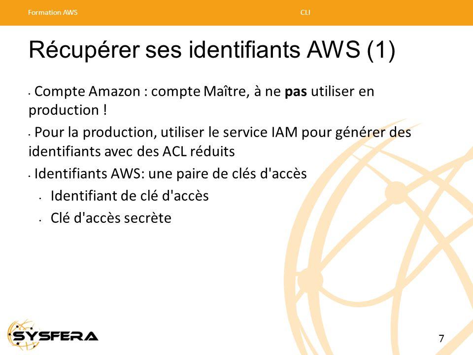 Récupérer ses identifiants AWS (1)