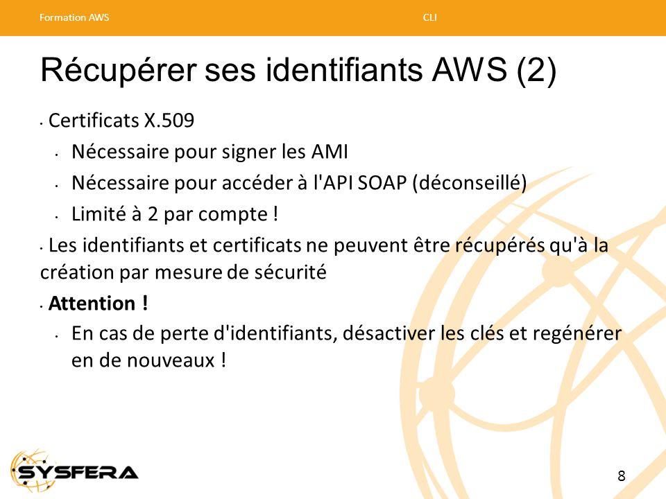 Récupérer ses identifiants AWS (2)