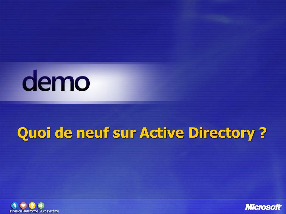 Quoi de neuf sur Active Directory