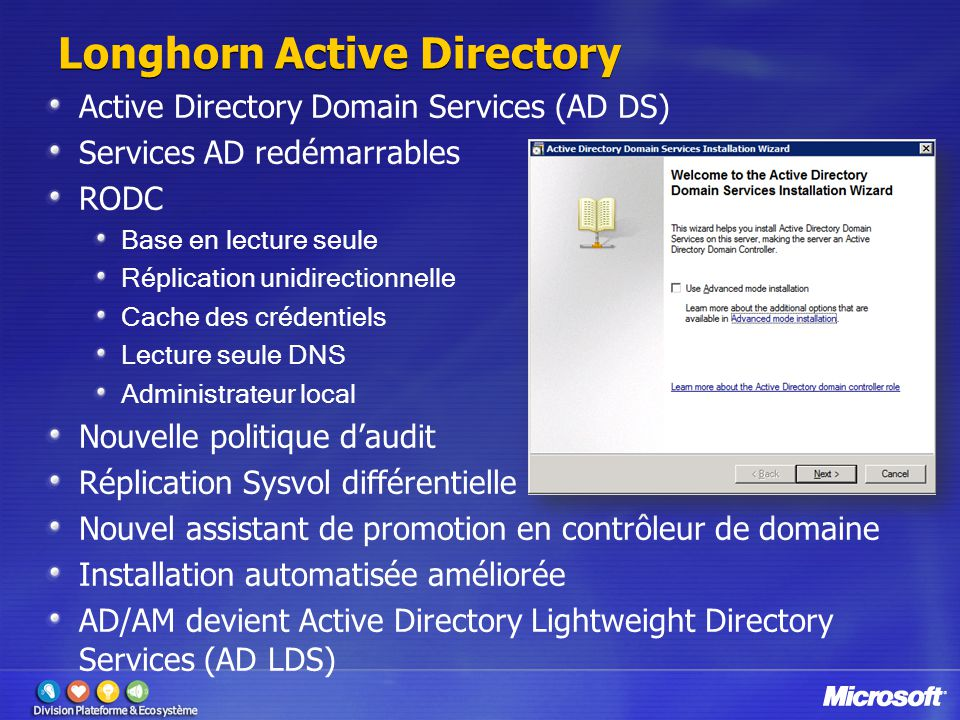 Longhorn Active Directory