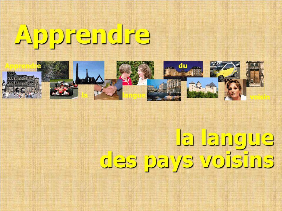 Apprendre Apprendre du voisin la langue la langue des pays voisins