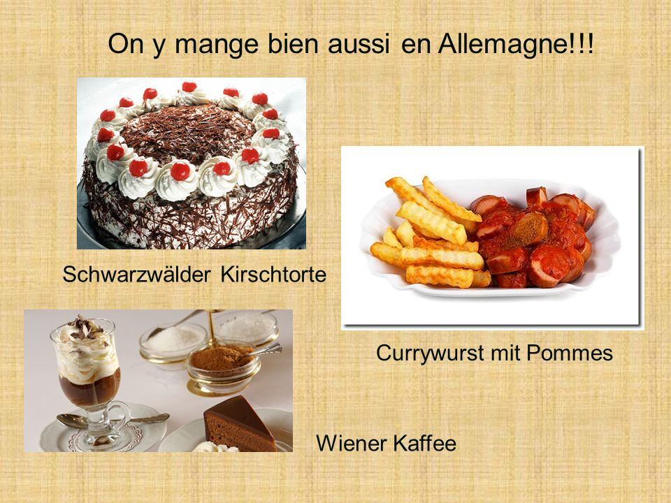 On y mange bien aussi en Allemagne!!!
