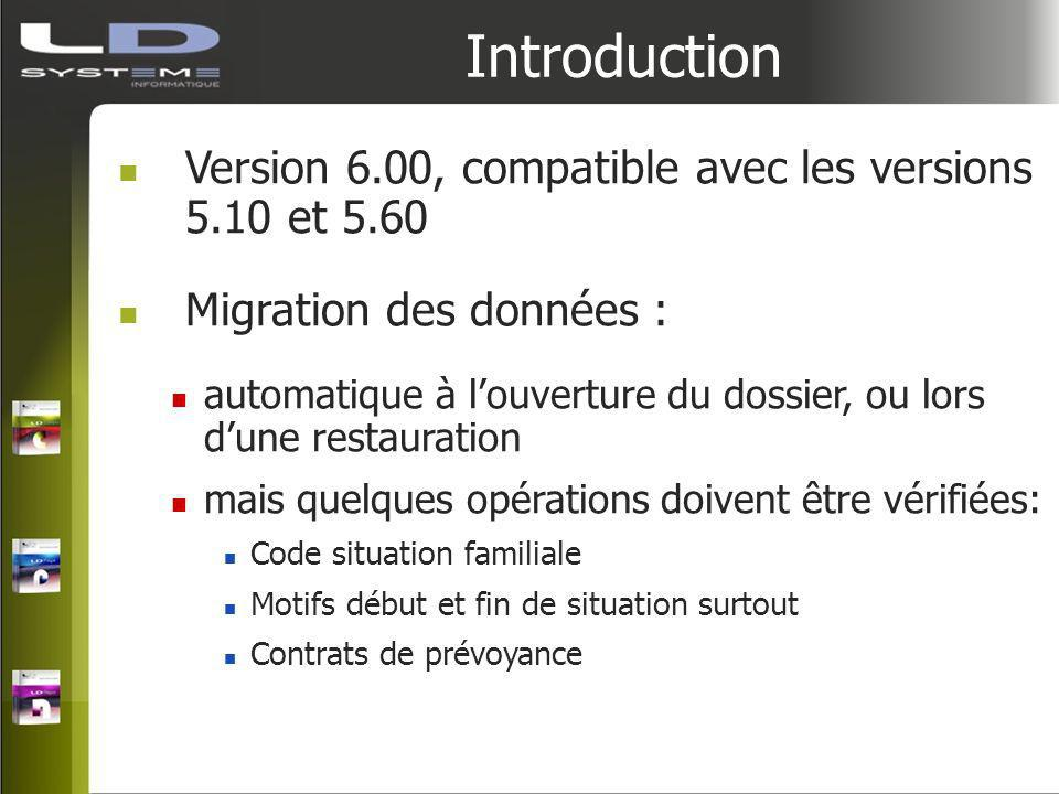 Introduction Version 6.00, compatible avec les versions 5.10 et 5.60