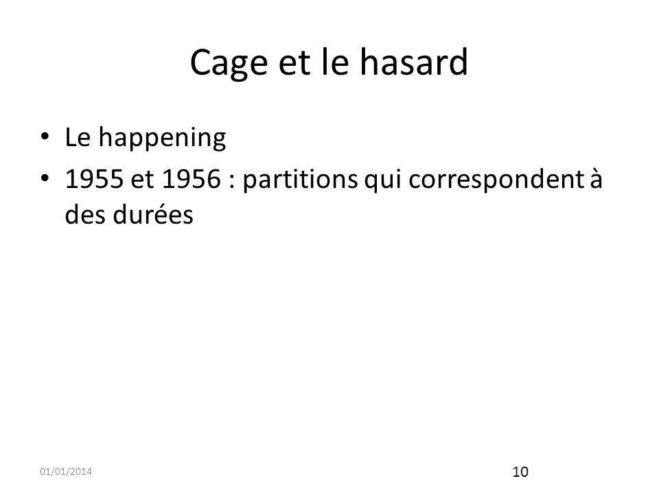 Cage et le hasard Le happening