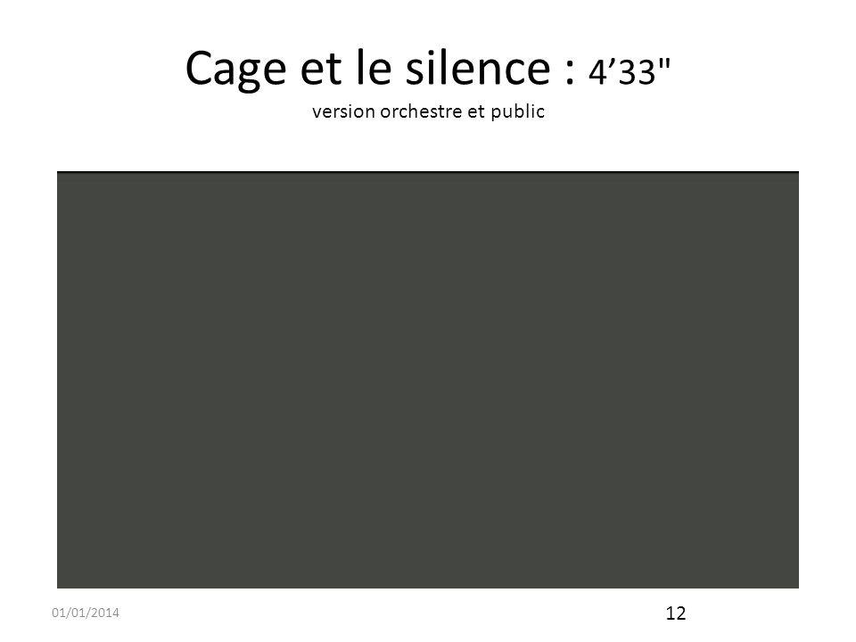 Cage et le silence : 4'33 version orchestre et public