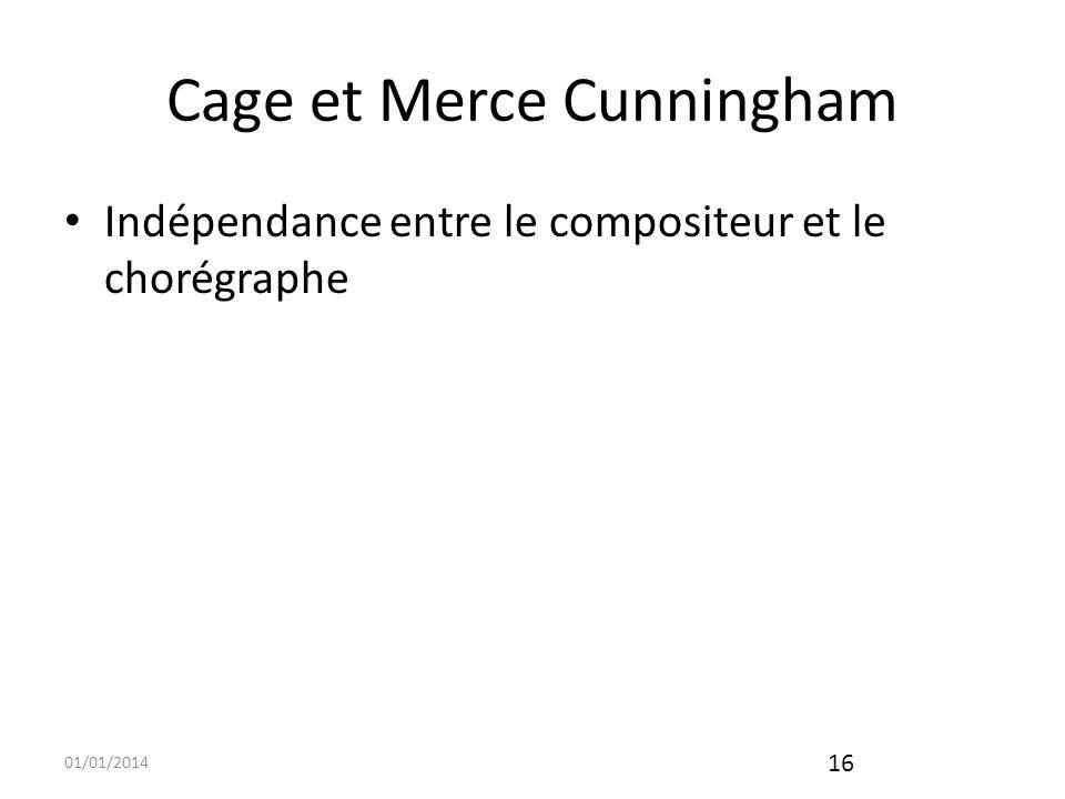 Cage et Merce Cunningham