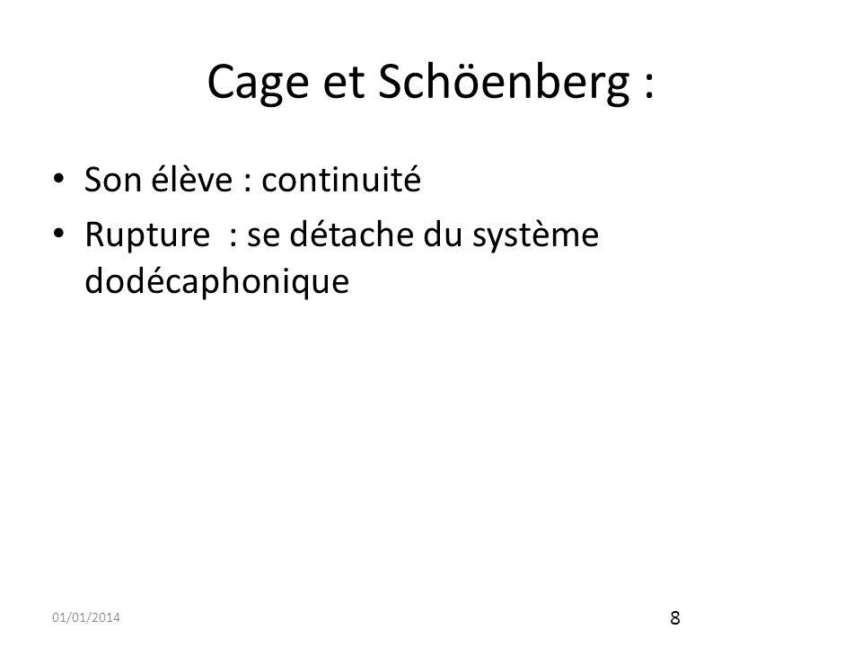 Cage et Schöenberg : Son élève : continuité
