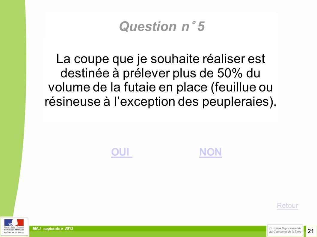 Question n° 5
