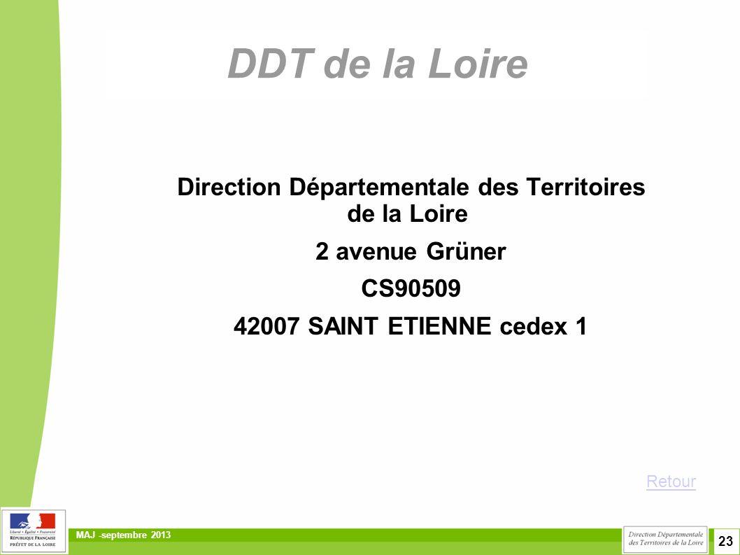 Direction Départementale des Territoires de la Loire