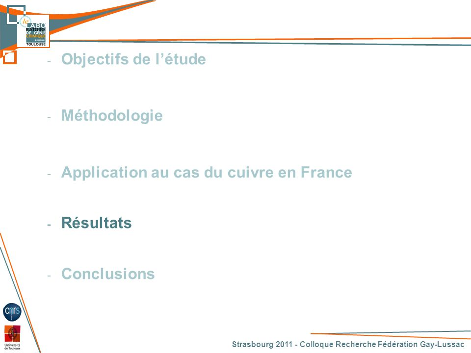 Application au cas du cuivre en France