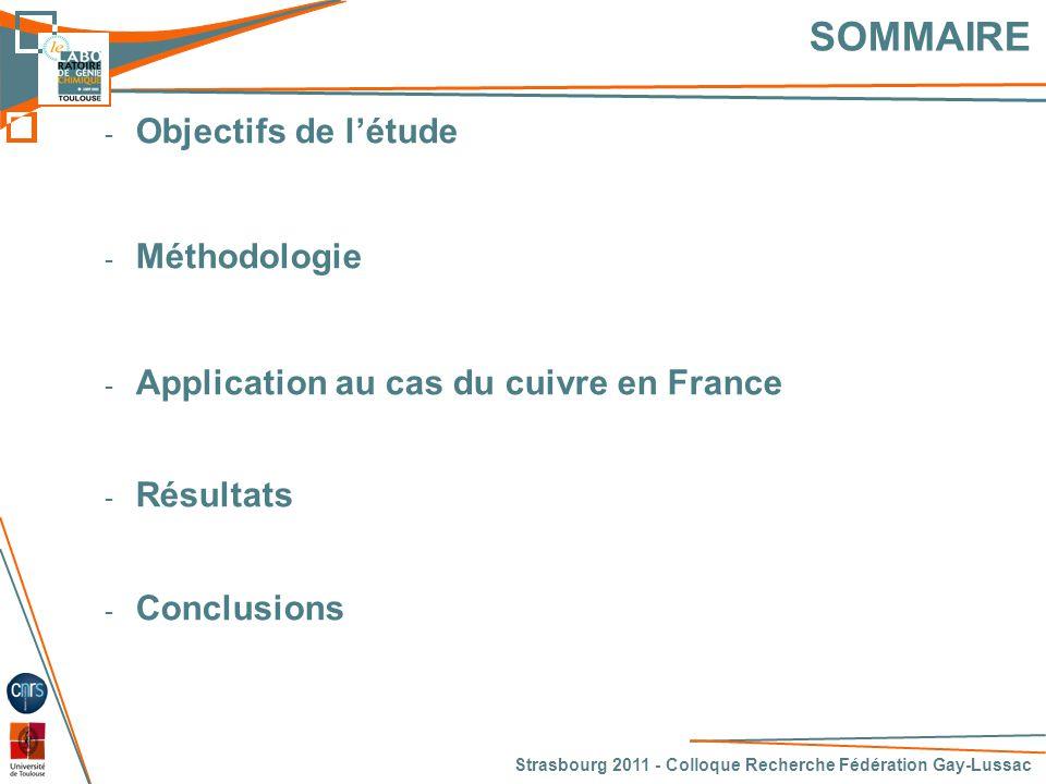 SOMMAIRE Objectifs de l'étude Méthodologie