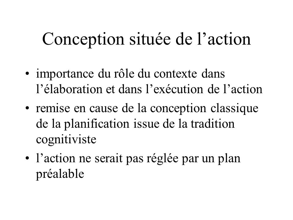Conception située de l'action