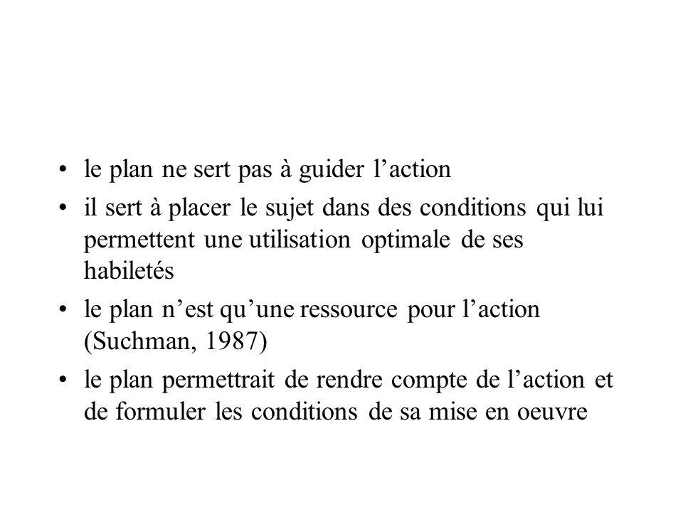 le plan ne sert pas à guider l'action