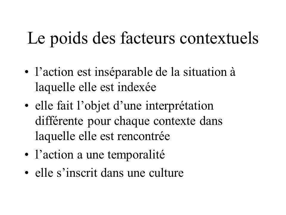 Le poids des facteurs contextuels