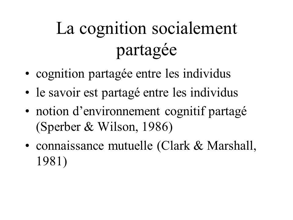 La cognition socialement partagée