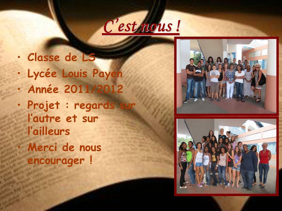 C'est nous ! Classe de LS Lycée Louis Payen Année 2011/2012