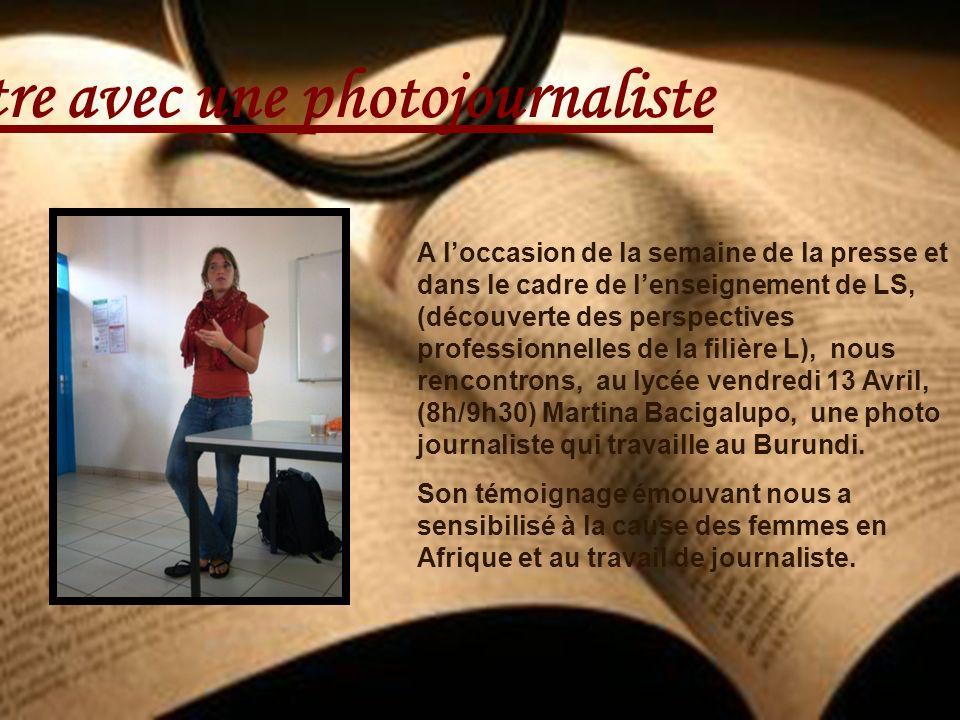 Rencontre avec une photojournaliste
