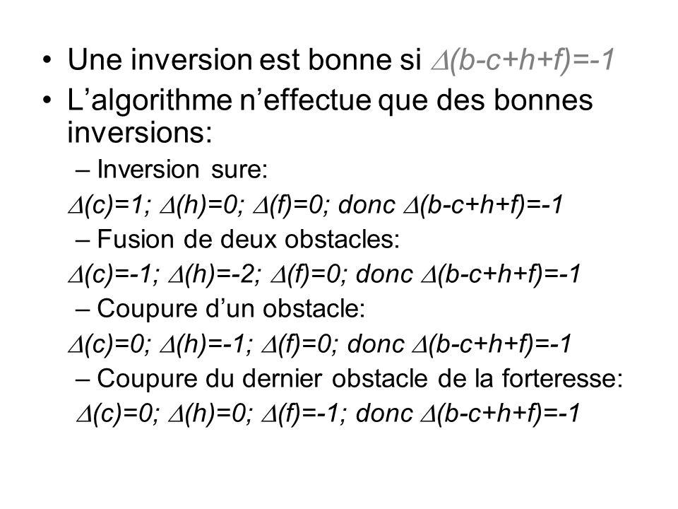 Une inversion est bonne si D(b-c+h+f)=-1