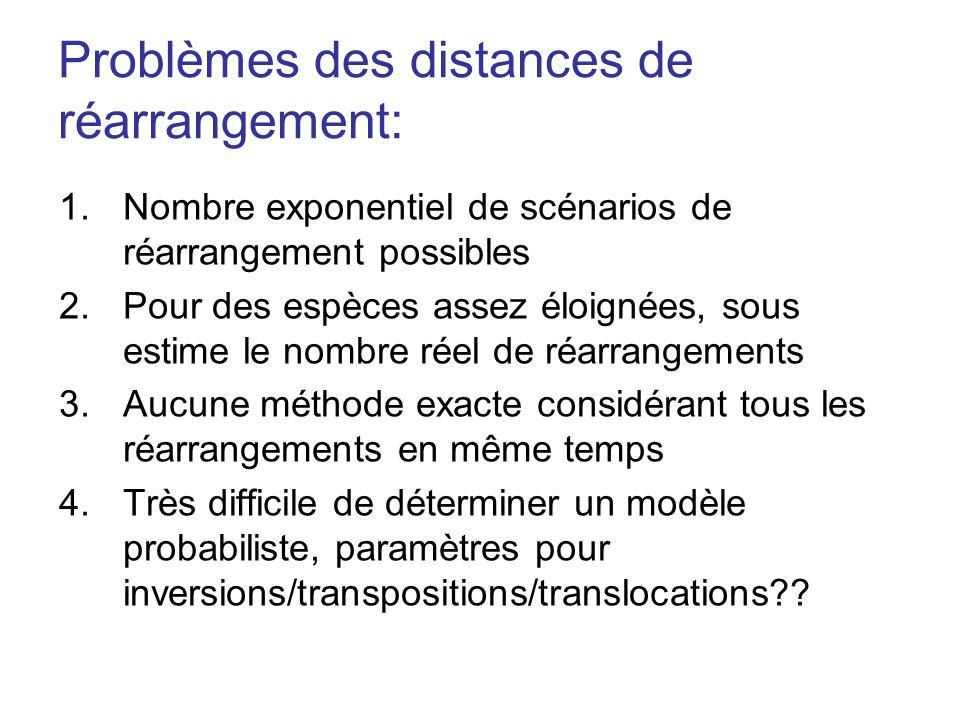 Problèmes des distances de réarrangement: