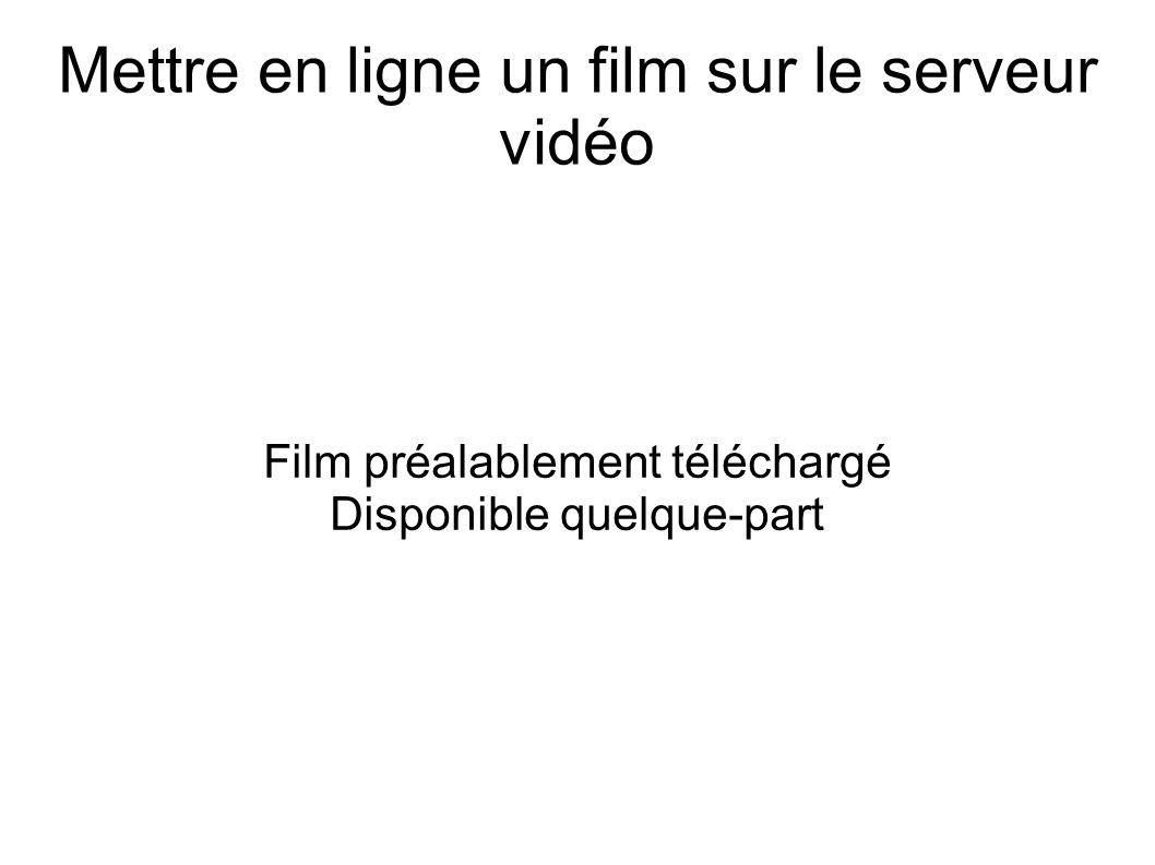 Mettre en ligne un film sur le serveur vidéo