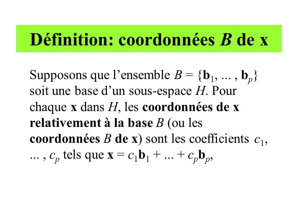 Définition: coordonnées B de x