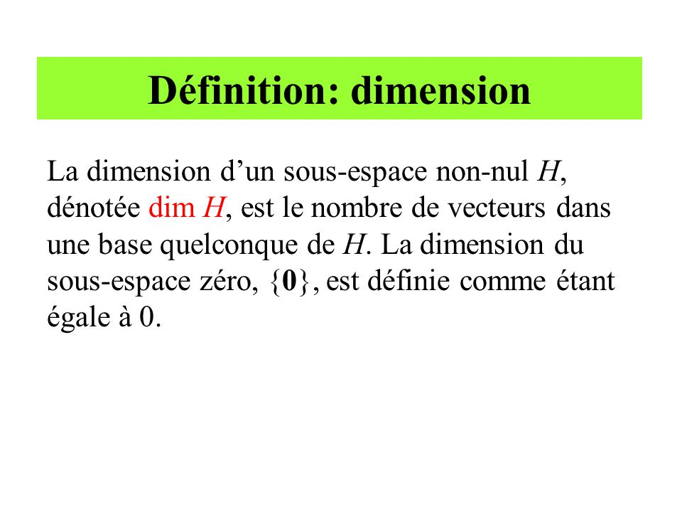 Définition: dimension