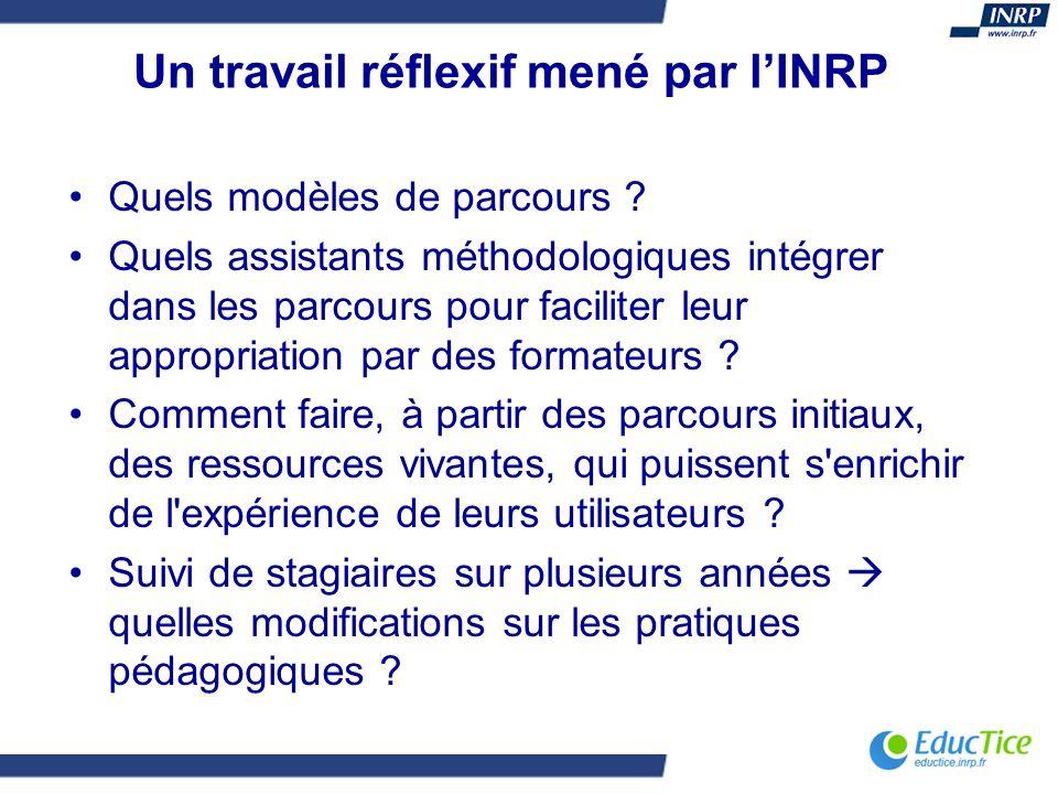 Un travail réflexif mené par l'INRP
