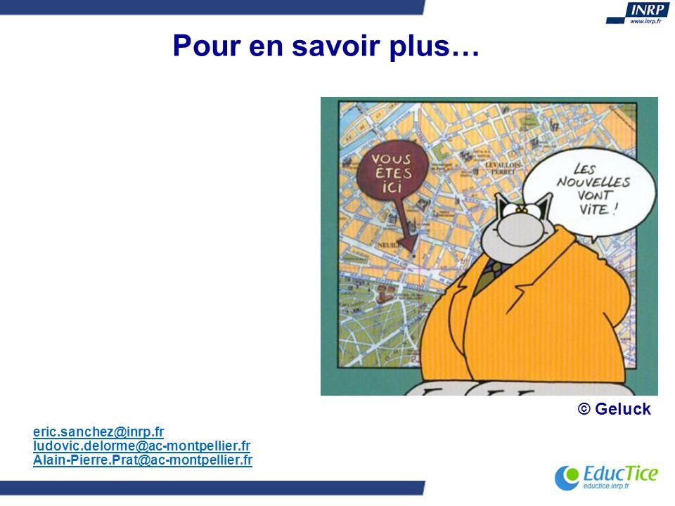 Pour en savoir plus… © Geluck eric.sanchez@inrp.fr