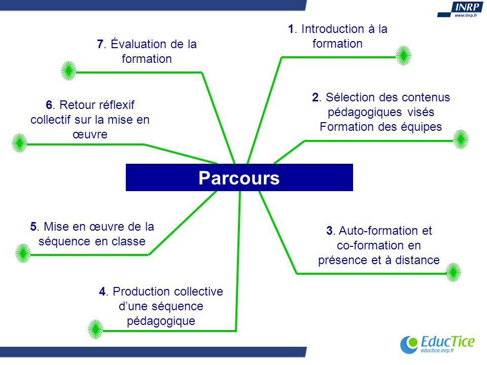 Parcours 1. Introduction à la formation 7. Évaluation de la formation