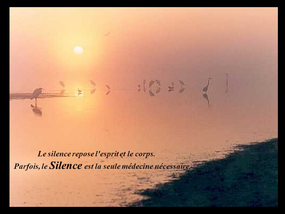 Le silence repose l esprit et le corps