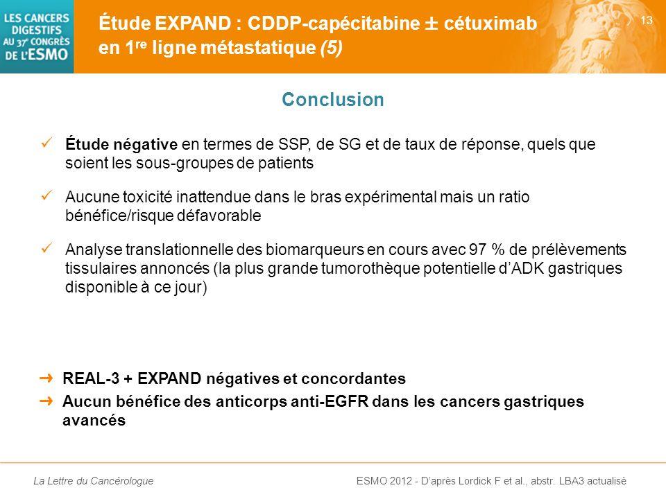 Étude EXPAND : CDDP-capécitabine ± cétuximab en 1re ligne métastatique (5)