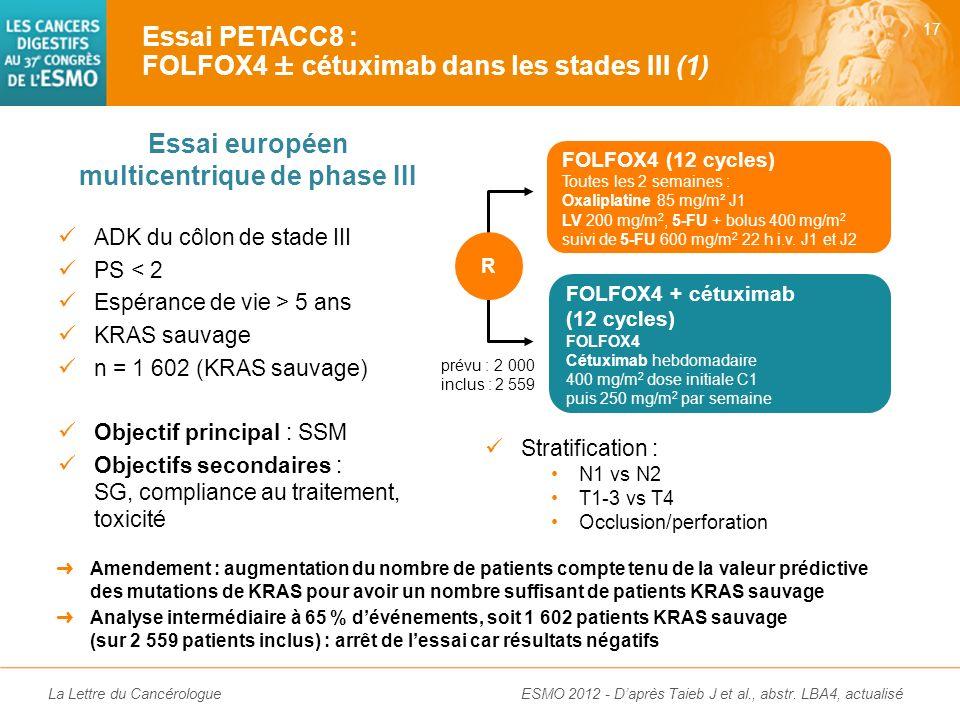 Essai européen multicentrique de phase III