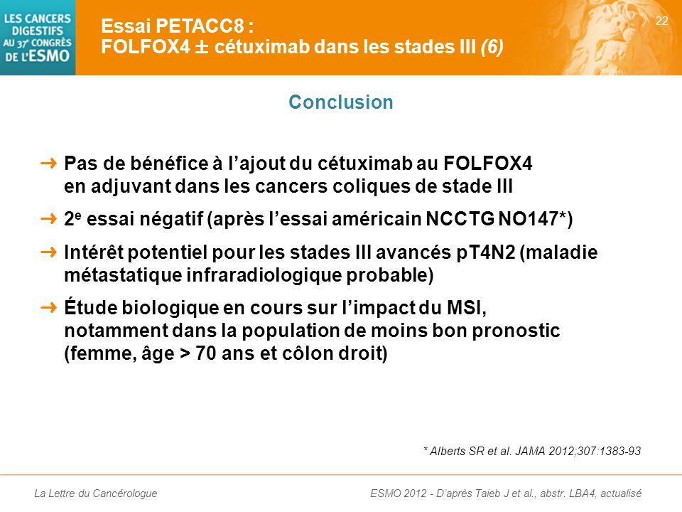 Essai PETACC8 : FOLFOX4 ± cétuximab dans les stades III (6)