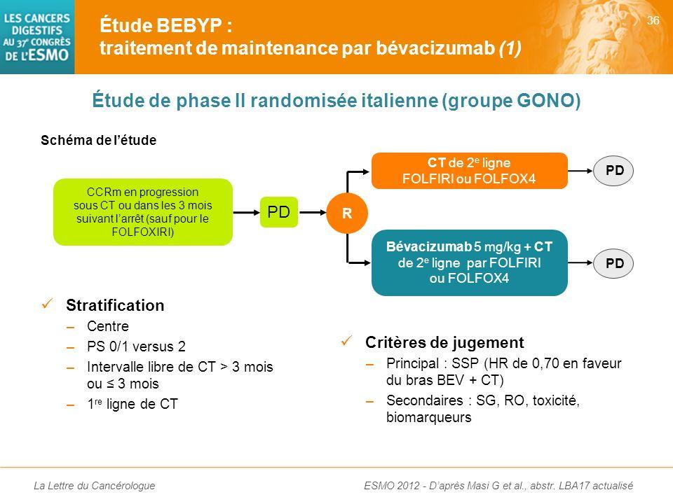 Étude de phase II randomisée italienne (groupe GONO)