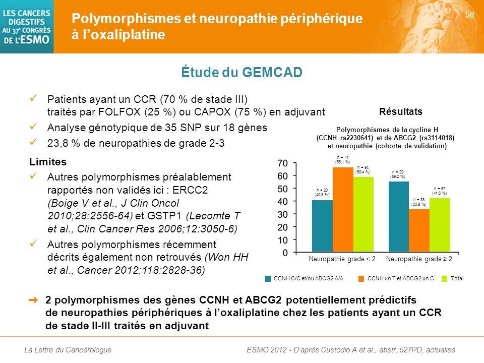 Neuropathie grade < 2