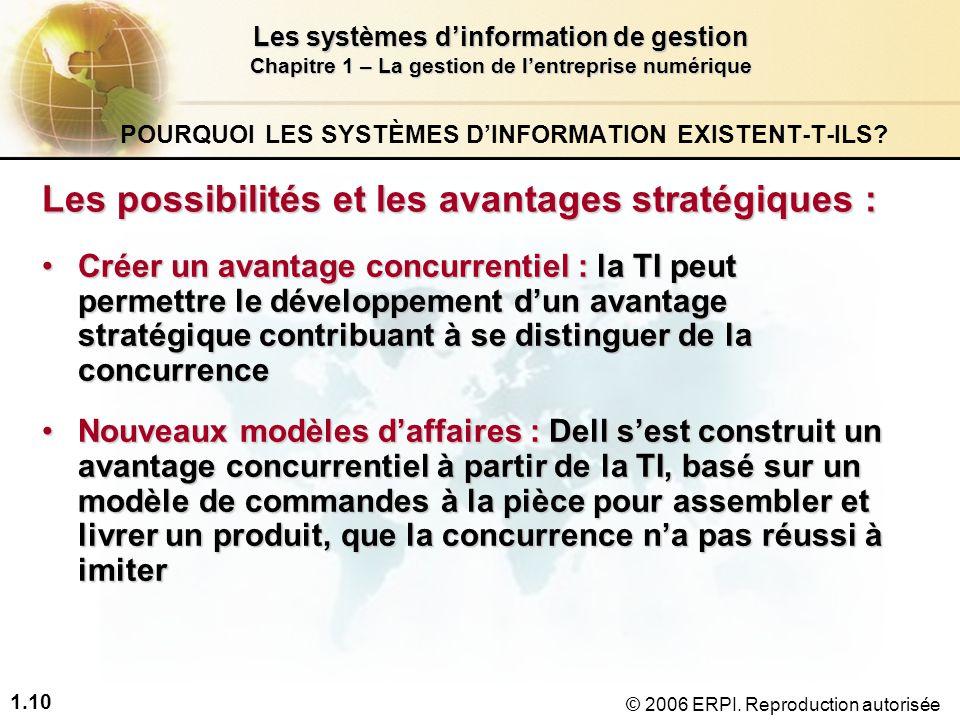 POURQUOI LES SYSTÈMES D'INFORMATION EXISTENT-T-ILS