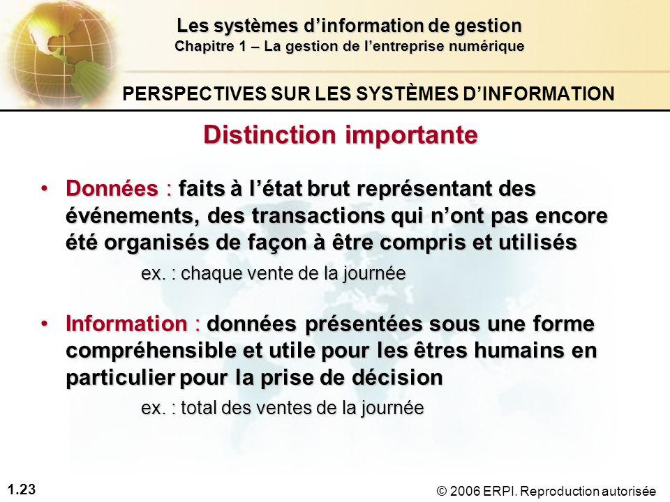 PERSPECTIVES SUR LES SYSTÈMES D'INFORMATION