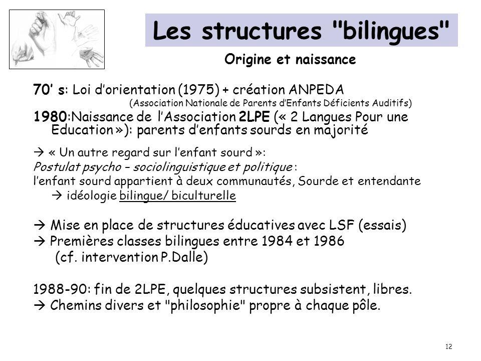 Les structures bilingues